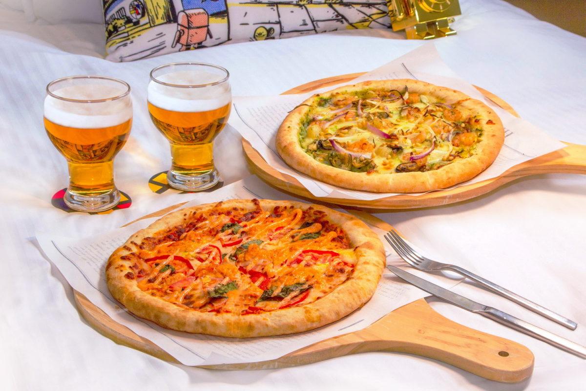 WFH客房餐飲住房專案 精緻客房含早1,999元  住好住滿24小時再贈披薩組合餐